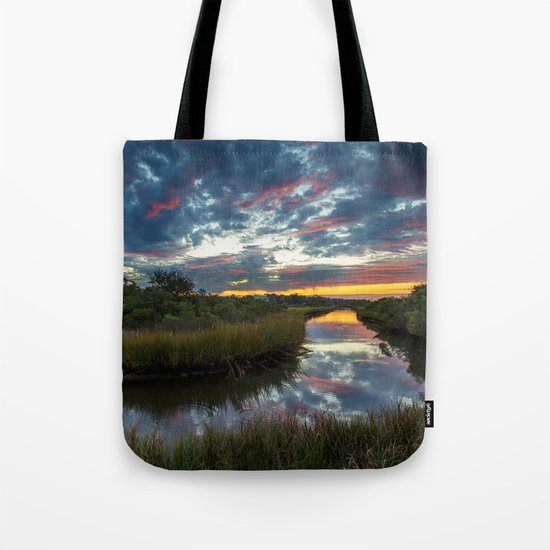 Mississippi Coastal Sunrise Tote Bag