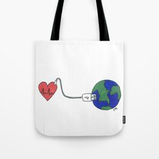World and Love Tote Bag