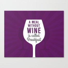 Wine Breakfast Canvas Print