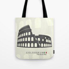 illustration of Roman Colosseum isolated on white background Tote Bag