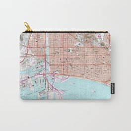Vintage Map of Long Beach California (1964) Carry-All Pouch