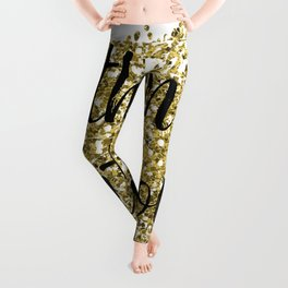 Within and without - golden jazz Leggings