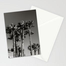 Venice Beach Black & White Palm Trees Stationery Cards
