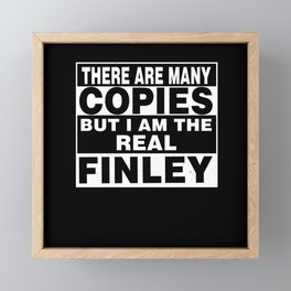 I Am Finley Funny Personal Personalized Gift Framed Mini Art Print