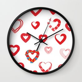 Different forms of love Wall Clock