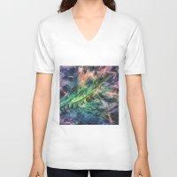 ladybug V-neck T-shirts featuring ladybug by Julia Kovtunyak
