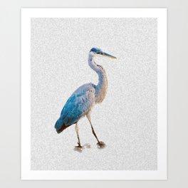 Blue Heron Silhouette Art Print