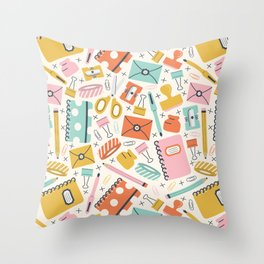 Stationery Love Throw Pillow