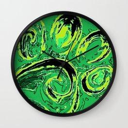 paw print_green Wall Clock