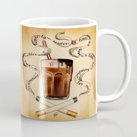 cigarettes Mugs featuring Cigarettes and Chocolate Milk by Brittany W-Smith