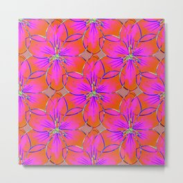 Flower Sketch 4 Metal Print