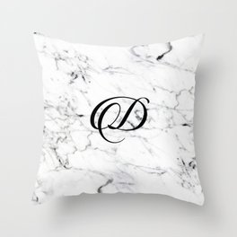 Letter D on Marble texture Initial personalized monogram Throw Pillow