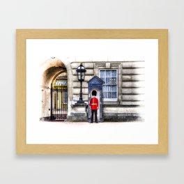 Buckingham Palace Queens Guard Art Framed Art Print