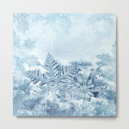 Snowflake Crystals Metal Print