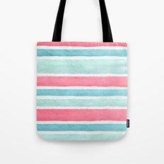 Pastel stripes Tote Bag