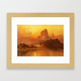 Thomas Moran - The Golden Hour, 1875 Framed Art Print