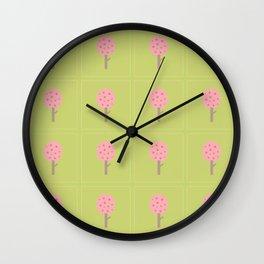 Hummingbird Hallow Collection - Pink Tree Wall Clock
