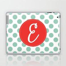 Monogram Initial E Polka Dot Laptop & iPad Skin