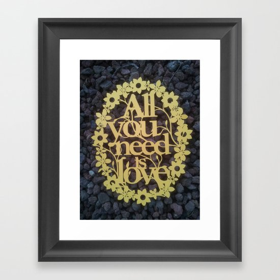 Framed Love Wall Decor : Paper cut quot all you need is love wall decor framed art