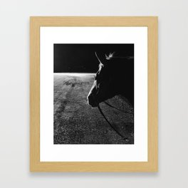 moon horse Framed Art Print