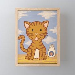 Cute Kitten Framed Mini Art Print