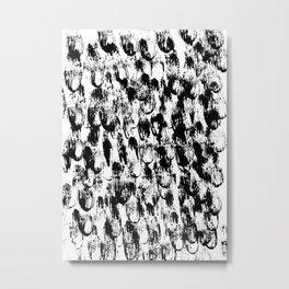 Black Pattern#3 Metal Print