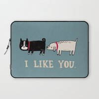 lol Laptop Sleeves featuring I Like You. by gemma correll