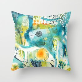 Cracks II - Where the light gets in Throw Pillow