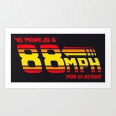 88 mph Art Print