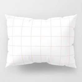 Peach Grid Pillow Sham