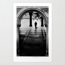 Street Musician, Central Park, NYC. Art Print