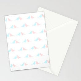 Little birds in love Stationery Cards