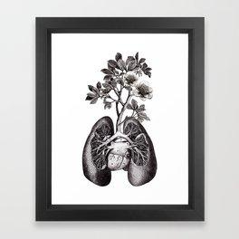 Flourishing Lungs Framed Art Print