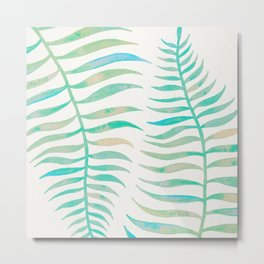 Palm Leaf – Sea Foam Palette Metal Print