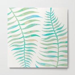 Palm Leaf – Sea Foam Palette Metal Print