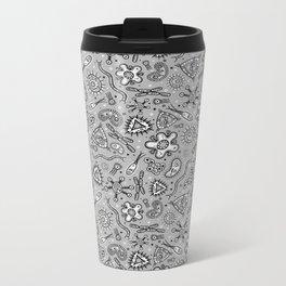 Microbes - Thousands Of 'Em (Half tone Black & White) Metal Travel Mug
