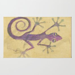 Purple Gecko of Love Rug