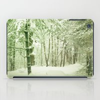 narnia iPad Cases featuring Winter Pine Trees by Olivia Joy StClaire