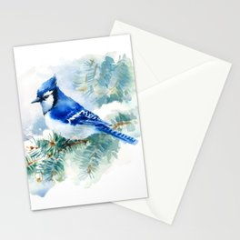 Watercolor Blue Jay Stationery Cards