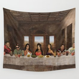 Jersey shore family dinner Wall Tapestry