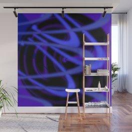 Purple Grooves Wall Mural