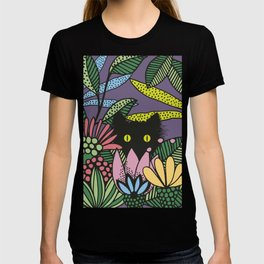 Cat in the Garden playing Hide and Seek T-shirt