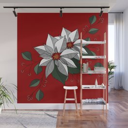 Holiday Flowers Wall Mural