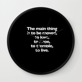 Quotes By Your Favorite Artists Wall Clock