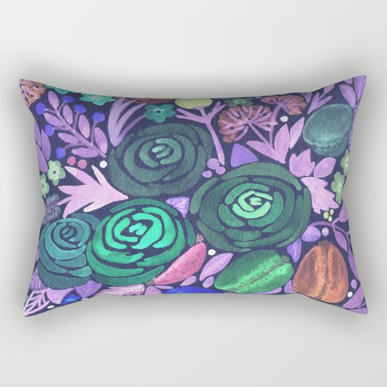 Watercolor . French cake in the colors . Rectangular Pillow