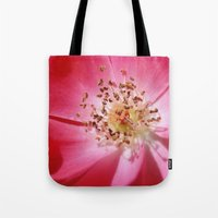 hot pink Tote Bags featuring Hot Pink by Zayda Barros