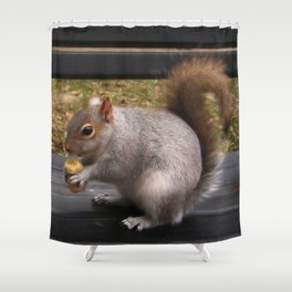 So What? I am on a banana diet. Shower Curtain