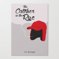 catcher in the rye Canvas Prints featuring THE CATCHER IN THE RYE by Kiwi Punk