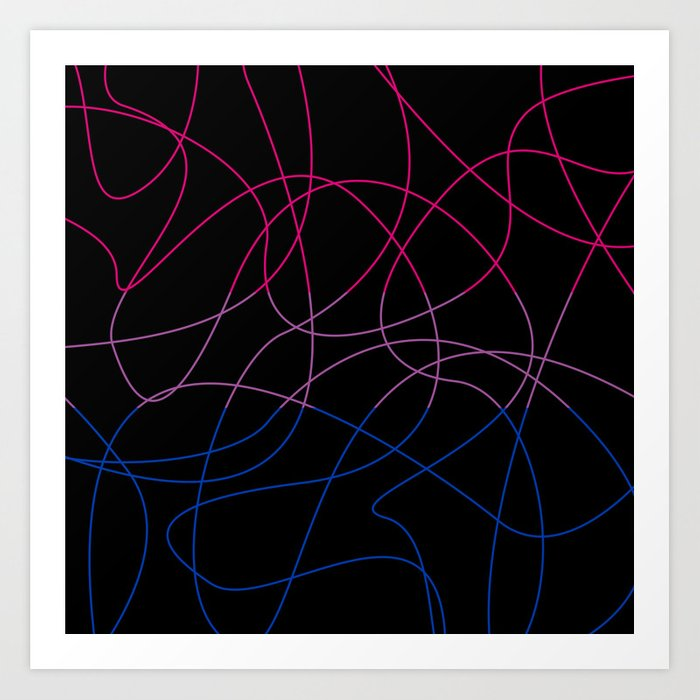 Abstract Threads – Bisexual Pride Flag Art Print