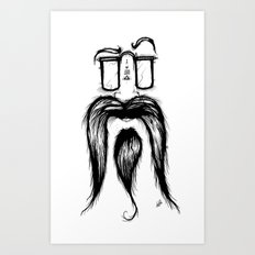 Blackie Beardy Face Art Print